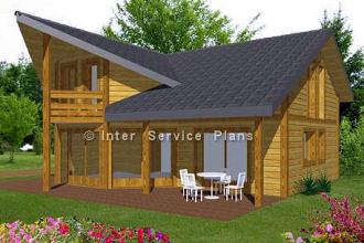 Maison à parement bois