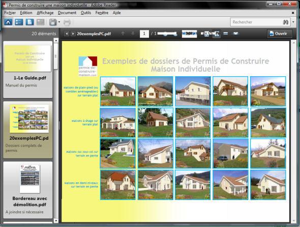 Exemples de dossiers complets de demande de permis de construire d'une maison individuelle