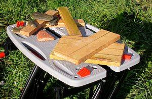 les carreaux de terre cuite prêts à la découpe