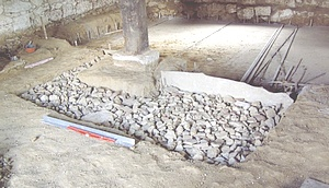 couler beton sur gros calcaire