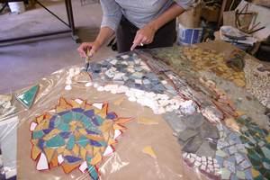 détourage e chacune des parties de le fresque