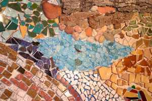 Cr er une mosa que murale avec des carreaux et des vitraux for Colle carrelage blanche