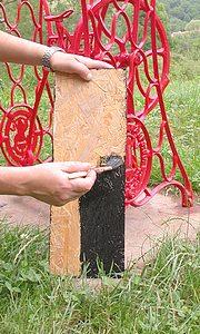 peindre le socle en bois